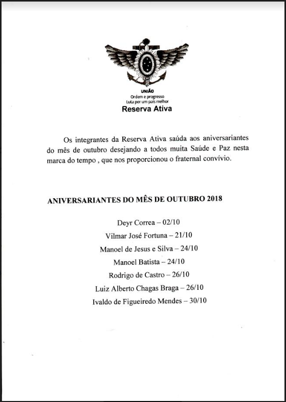 aniversariantes out